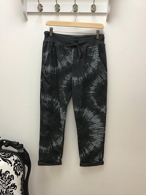 Tie-dye print jogging bottoms - Charcoal