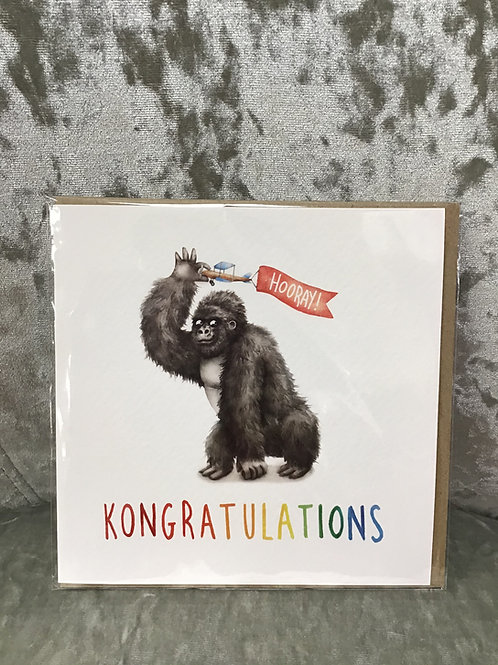 'Kongratulations' card