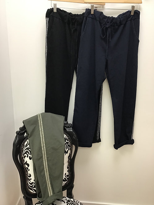 Joggers with Side Detail