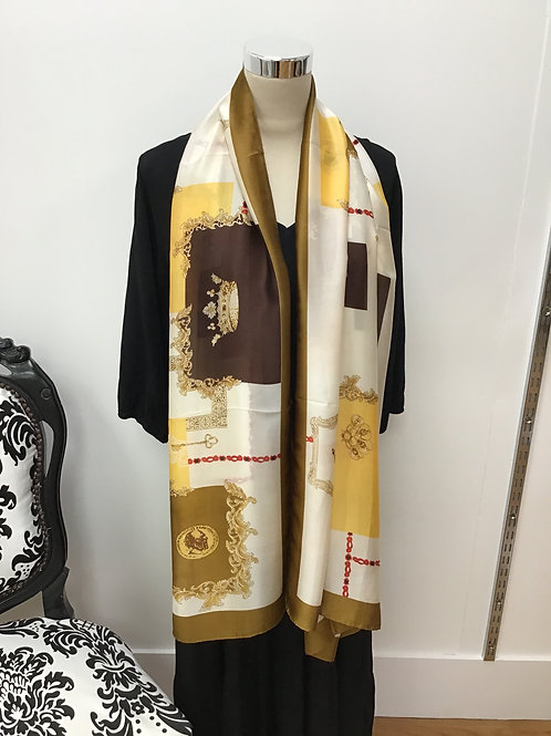 Chain print scarf