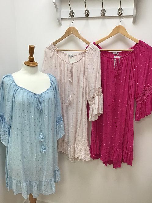 Crochet sleeve dress