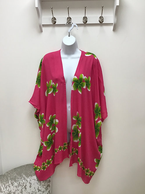 Hot Pink Beach  Wrap (Kimono)