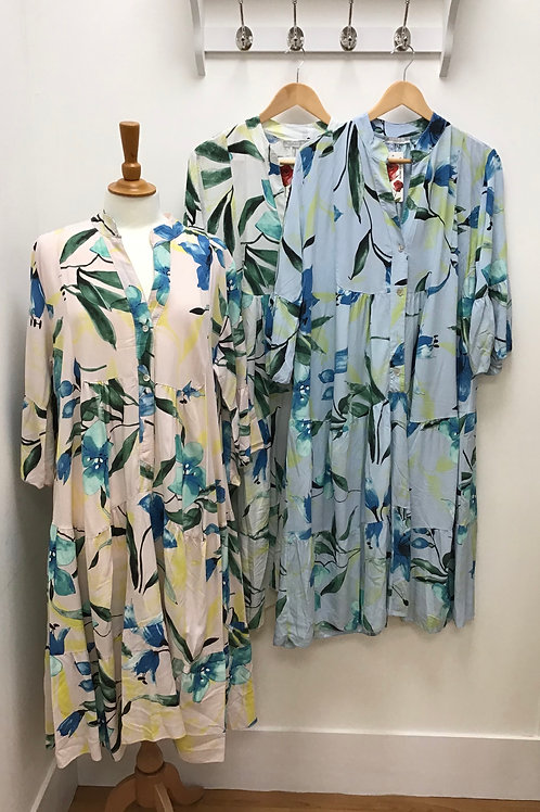 Floral Print Midi Smock Dress