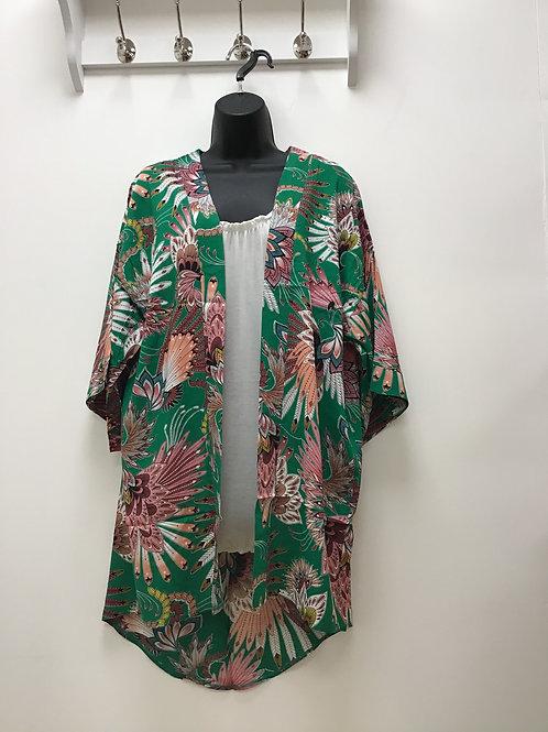 Nozomi Green Kimono