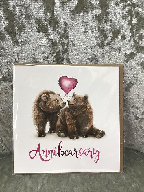 'Annibearsary' card
