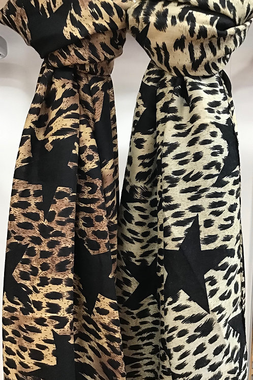 Leopard And Star Scarf