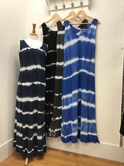 Tye Dye Maxi Dress With Splits On Sides