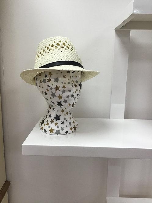 Cream Trilby Hat