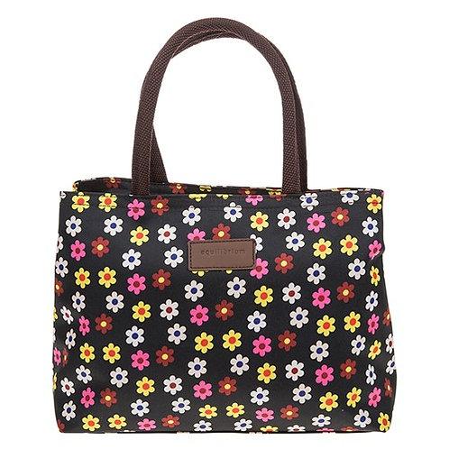 Flowerpower waterproof handbag black