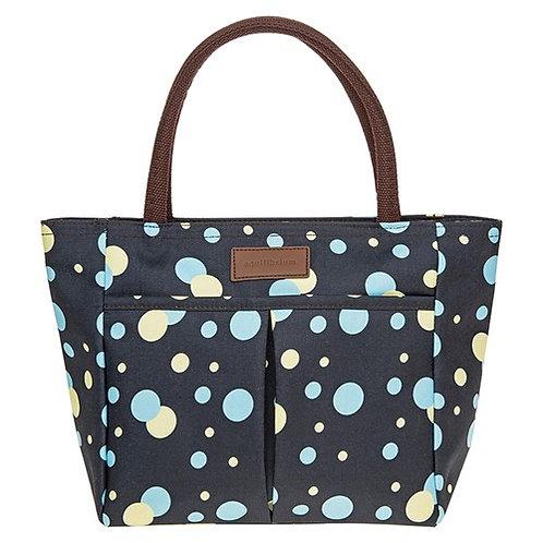 Navy spot waterproof handbag