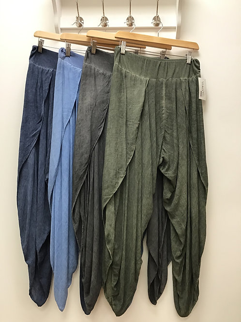 Harem Style Trousers With Slits