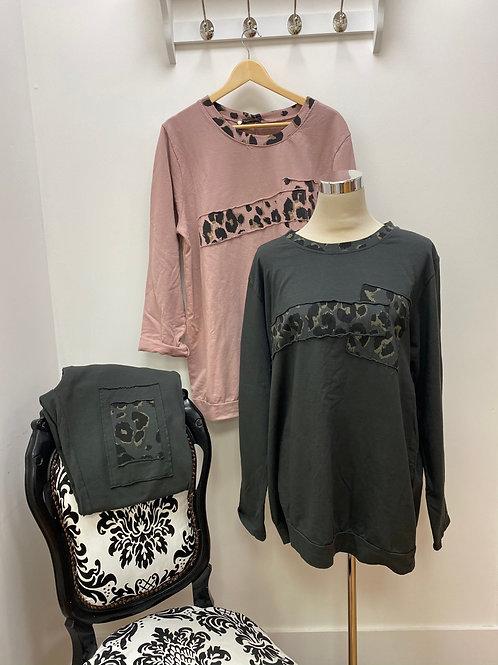 Animal print loungewear set