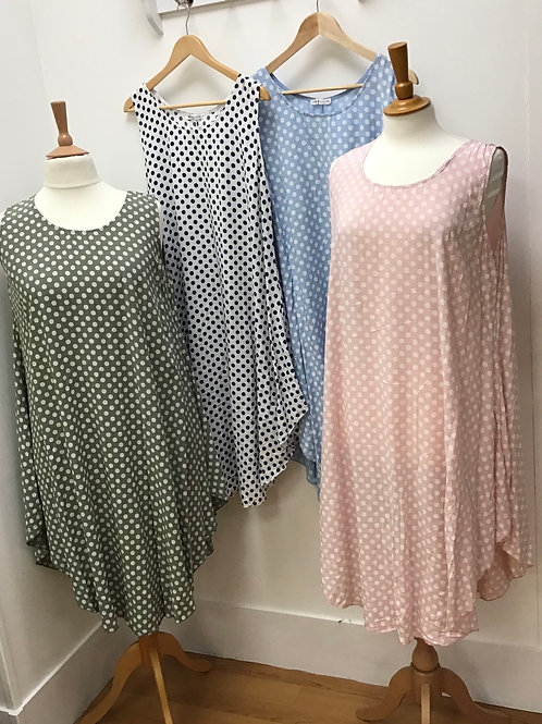 Cotton Dress With Spots