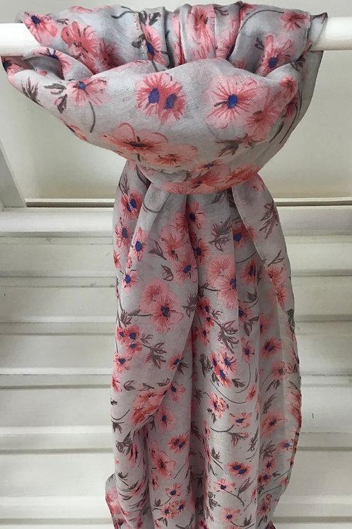 Ditsy Blossom Pink Scarf