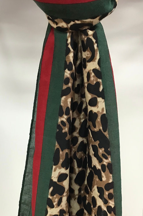 Large Leopard Print Scarf