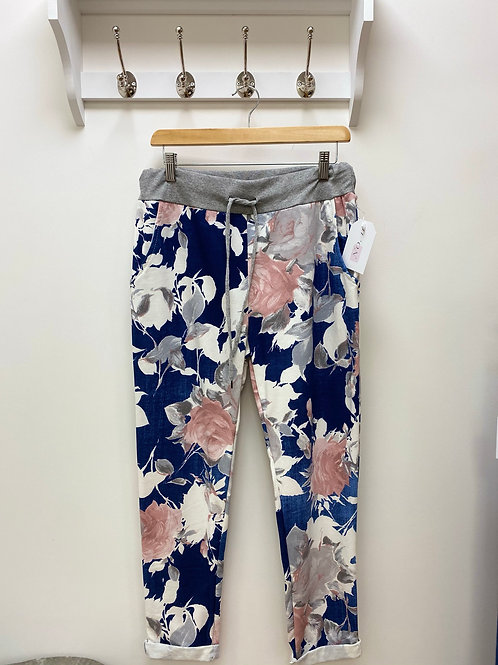 Navy Floral Magic Trousers