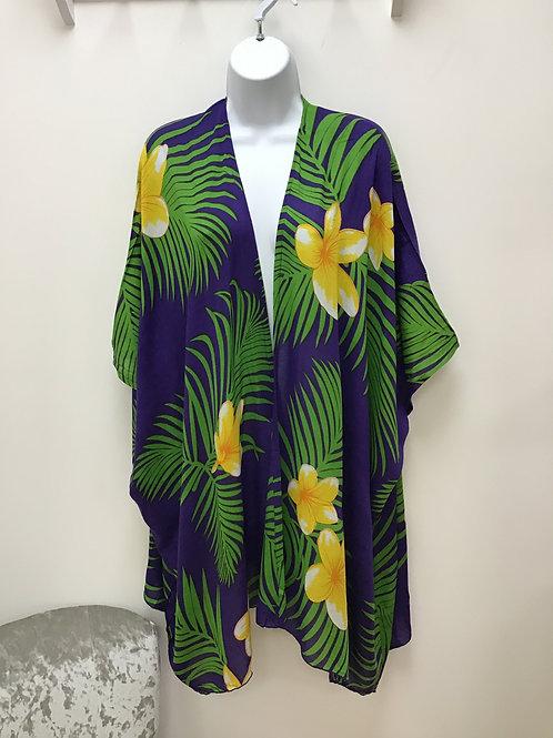 Purple Beach Wrap (Kimono)