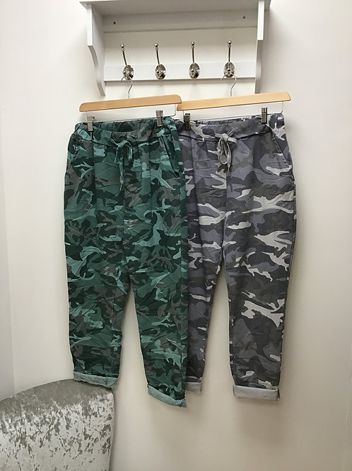 Camouflage Print Magic Ttousers
