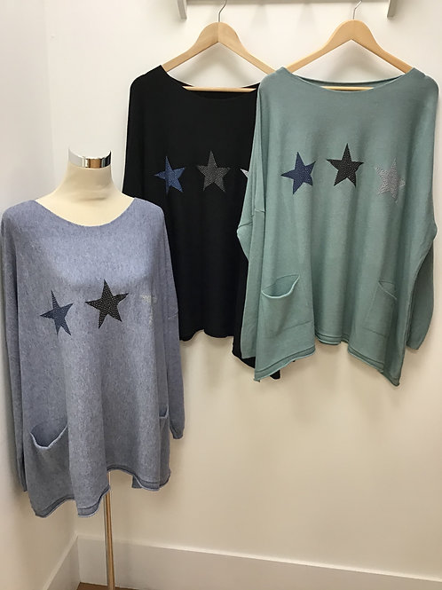 Star Print Tunic Top