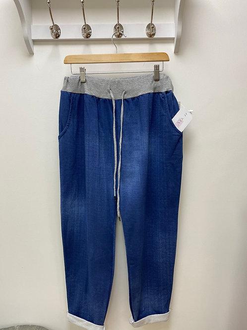 Blue Denim look Magic Trousers