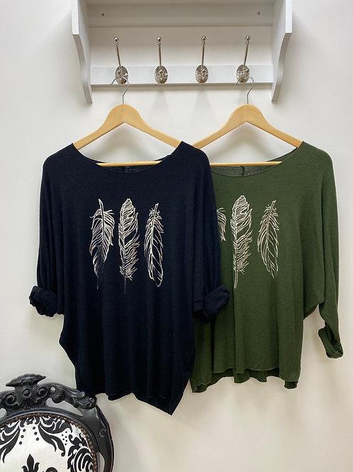 Leaf design jumper