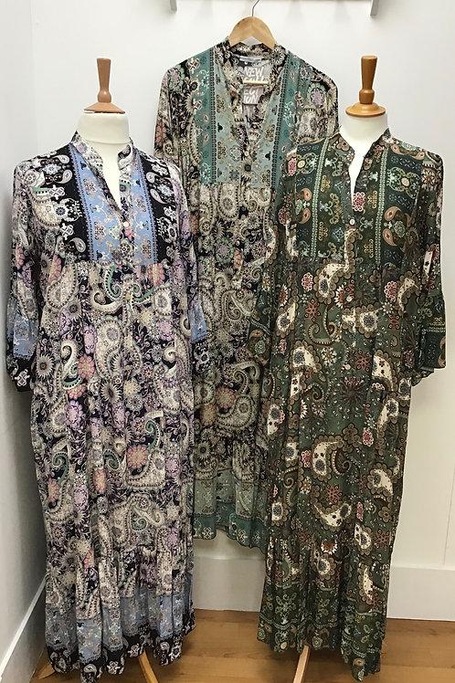 Paisley Smock Maxi Dress