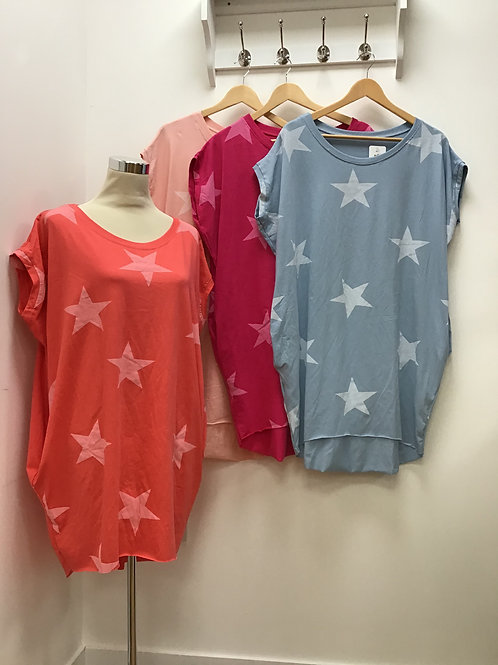 High Low Star Top