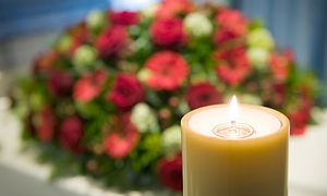 Bougie-Coffin-Fleurs
