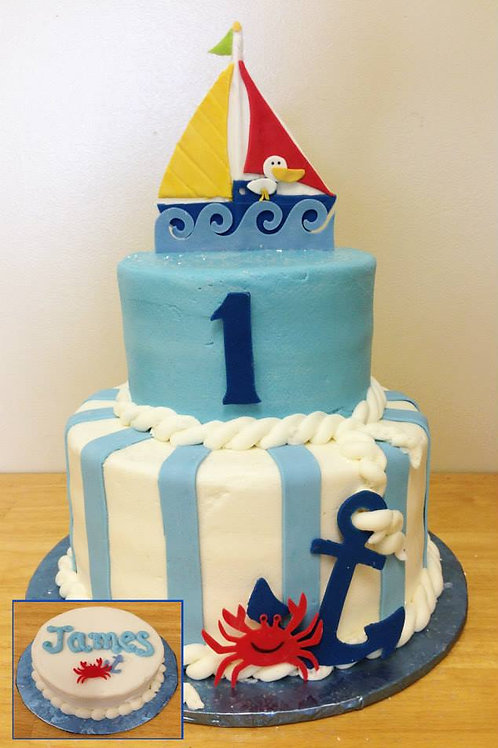 Two-Tiered Birthday Cakes