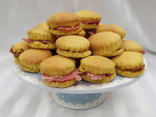 Sweet Potato & Country Ham Biscuits