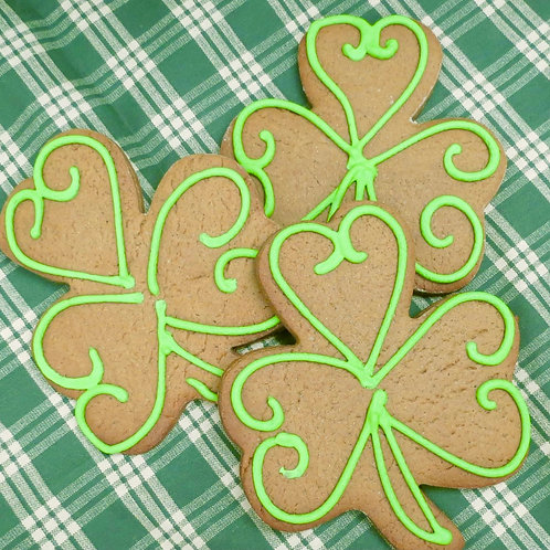 Large Irish Gingerbread Shamrocks