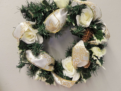 Ivory Christmas Door Wreath