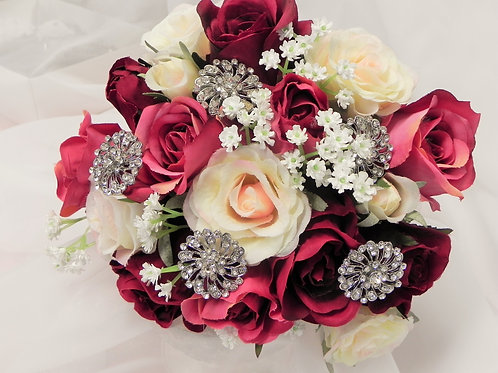 Silk Jewelled Rose Brides Bouquet