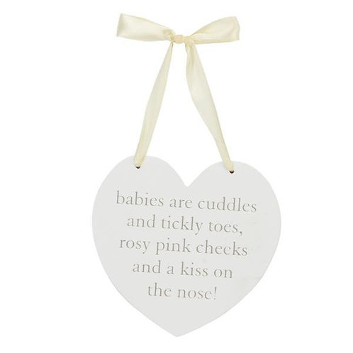 MDF Babies are Cuddles Hanging Wall Plaque