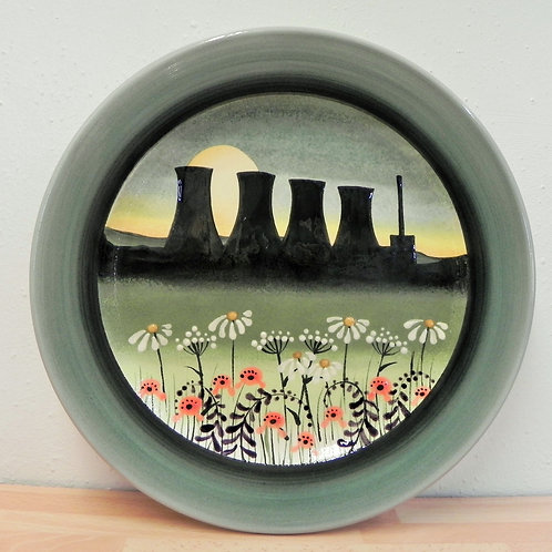 Rachel Frost Pottery Cooling Towers Plate