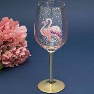 Fabulous Flamingo Wine Glass