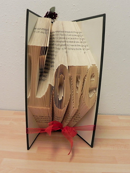 Folded Book Art, Love
