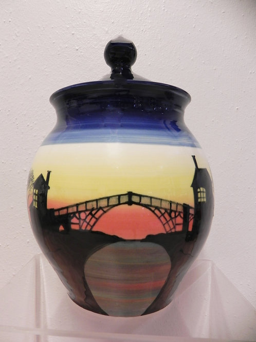 Rachel Frost Pottery Ironbridge Lidded Pot