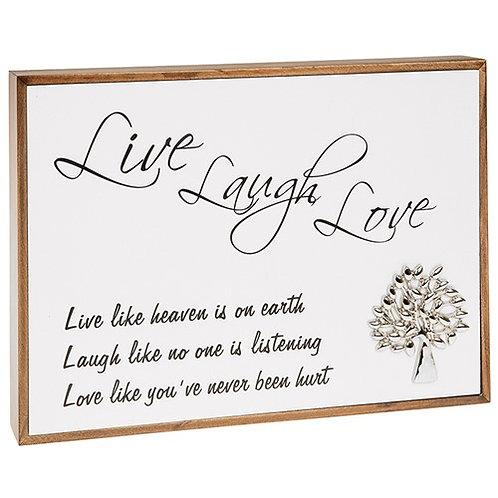 Love Lines Live, Laugh, Love Plaque