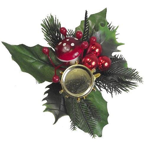 Christmas Pick with Mushroom, Drum & Berries