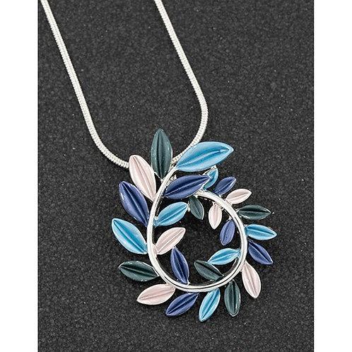 Equilibrium Lunar Tones Leaf Curl Necklace