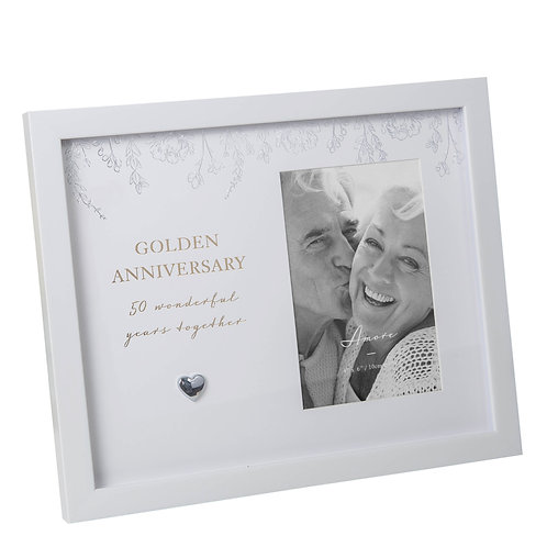 Amore Golden Anniversary Frame 4 x 6