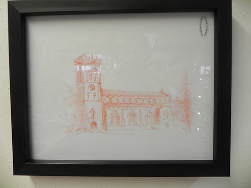 Framed Print - All Saints Church Broseley
