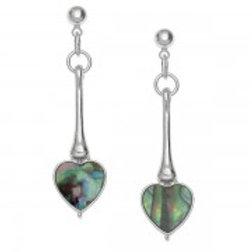 Tide Jewellery - Long Heart Earrings