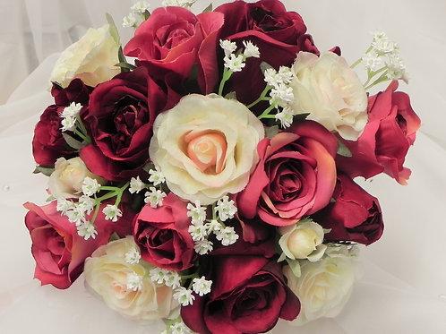 Silk Rose Bridesmaid Bouquet