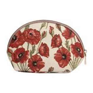 Signare Large Cosmetic Bag - Poppy