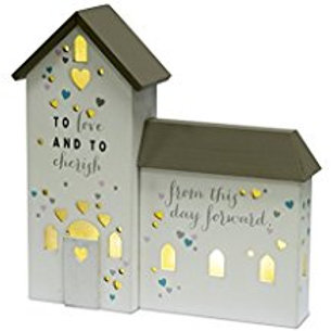 Occasion Gifts - To Love and To Cherish Light Up LED Church