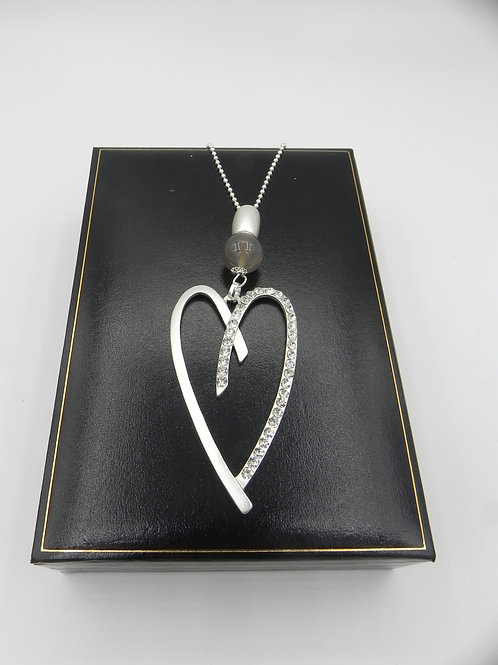Long Silver Plated Necklace - LNSD2