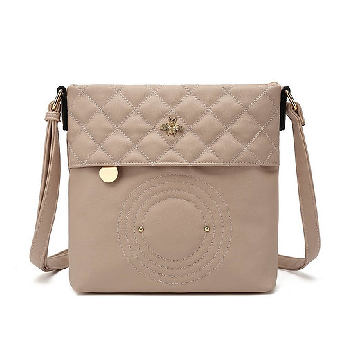 Pink Bumblebee Quilted Cross Body Bag