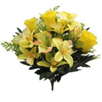 Rosebud/Alstro & Orchid Bush - Yellow